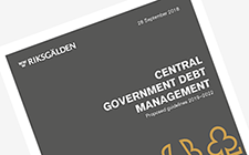 cover Proposed guidelines of Swedish National Debt Management 2019-2022
